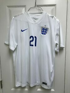 NWOT 2014/15 Ross Barkley England Home XL Jersey Nike White #21