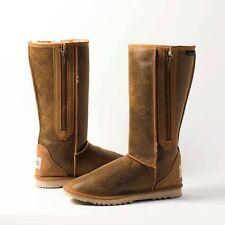 Zip Sheepskin Knee High Boots for Women