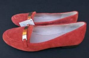 Hush Puppies Yoko Burnt Orange Suede Womens Shoes Loafers - Size 39