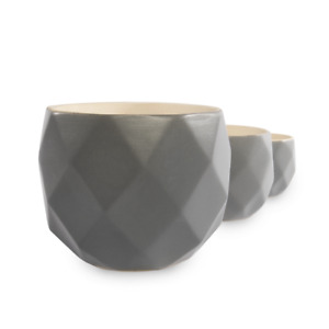 Geometric Succulent Plant Pots Set of 3 Containers Indoor & Outdoor M&W