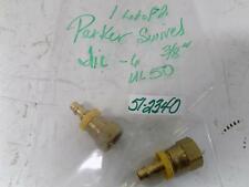 """PARKER SWIVEL 3/8"""" FITTING UL50 / JIC-6 LOT OF 2"""