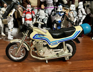 "KIDCO 6"" POWER BLASTERS White Blue 1100 Motorcycle 1981 White Pull String Works"