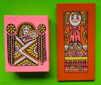 Vintage Mid Century 60s 70s Colorful Funky John Alcorn Wall Hangings Art Plaques