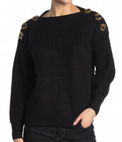 NWT Philosophy Apparel Womens Boatneck Dolman Sweater Black Size S