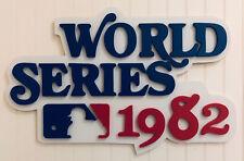 "1982 World Series Logo Wood Sign 36"" x 24"" St. Louis Cardinals Milwaukee Brewers"