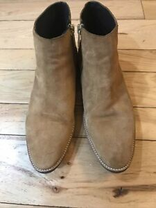 Zara Men's Chelsea Boots Size EU 45 US 12 Suede Tan