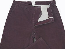 NEW! Giorgio Armani Corduroy Pants (Cords)!  34 x 37  *Purple*  Heavier  Soft