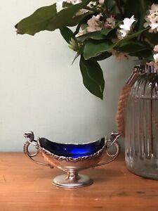 Beautiful Antique 1907 Chester Edwardian Sterling Silver Salt Cellar Cruet Dish