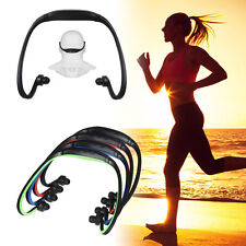 Sport Wireless Headset Headphone Earphone MP3 Music Player Support Micro TF