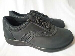 SAS Walk Easy Nero Black Womens Shoes 9 WW Double Wide Brand New