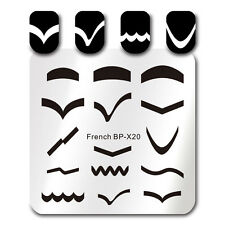 BORN PRETTY Square Nail Art Stamp Template French Tips Design Image Plate BP-X20