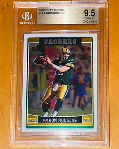 Pop 1 of 5!💎2006 Aaron Rodgers TOPPS CHROME 2nd Year card #14 BGS 9.5 = PSA 10