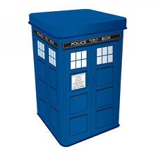 SCATOLA IN LATTA-Doctor Who Tardis-Dr Who Police BOX TIN di grandi dimensioni