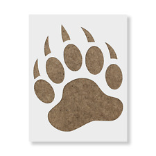 Bear Paw Claw Stencil - Reusable Mylar Stencils for Painting