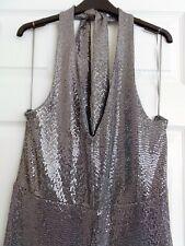 NEW Silver Halter Sequin Jumpsuit