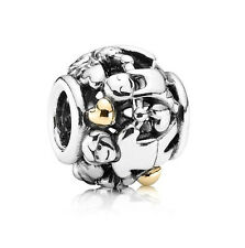 * Authentic PANDORA Charm Two Tone Family Forever w/14K 791040 w Gift Pouch