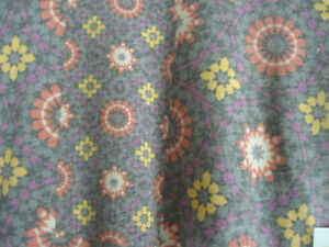 LuLaRoe Classic NWT XXS Gray with Pink and Yellow Abstract Flowers
