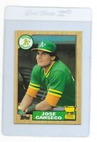 JOSE CANSECO 1987 Topps Oakland A's ATHLETICS RookieRC  MLB Baseball CARD #620