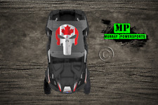 UTV Roof Decal, Canadian Flag Punisher Univ. Roof Decal (RZR, X3, Truck, Car)