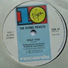 """FLYING PICKETS - Only You - Excellent Condition 7"""" Single 10 TEN 14"""