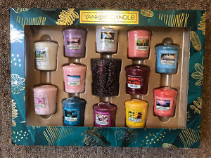 Yankee Candle Last Paradise Collection 12 Votive 1 Holder Gift Set New & Boxed