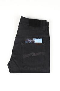 32462 Nudie Jeans Thin Finn Dry Grey Coated Grau Herren Jeans Größe 28/32