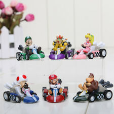 6pcs/set Super Mario Bros Kart PULL BACK Car Figures Kart PULL BACK Cars Figures