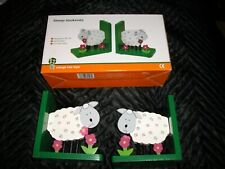Orange Tree Toys Childs Wooden Animal Bookends in the shape of Sheep