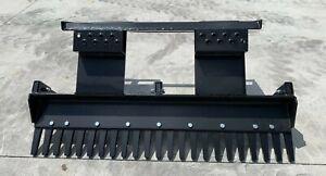 "48"" Eliminator Scarifier Landscaping Rake Mini Skid Steer Attachment Heavy Duty"