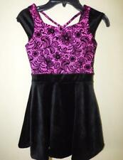 BLOOME® Girls 7 Pink & Black Lace & Velvet Dress NWT $68