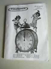 2009-10 TimeSavers Catalog #35 Illustrated Identify Horologist Clock Parts Tools