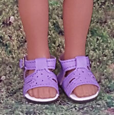H4H Dark Purple Color Star Cut Out Shoes Fit American Girl Wellie Wishers Dolls