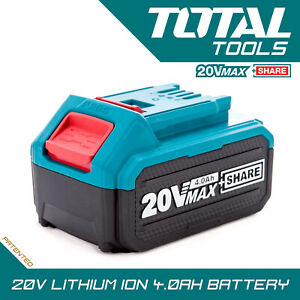 Total Tools 20v 4.0Ah Li-ion Battery Pack 4000mAh Replacement