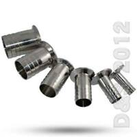 """OD 2""""inch 51mm Stainless Steel Hose Barb Ferrule Sanitary Pipe Fitting Tri Clamp"""