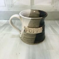 "Vintage handmade large mug like new condition   "" Poppy "" stamped front"