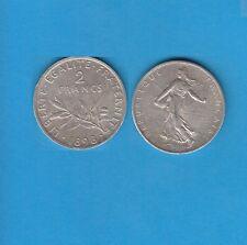 Gertbrolen 2 Francs argent Type Semeuse  1898  Exemplaire Numéro 2