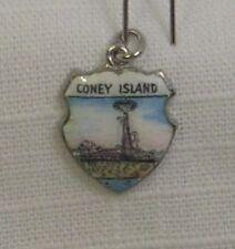 Vintage REU Sterling/Enamel Coney Island, New York - Bracelet Charm - NOS