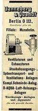 Dannenberg & Quandt Berlin VENTILATOREN Historische Reklame 1908