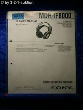 Sony Service Manual MDR IF8000 Cordless Headphones  (#6274)