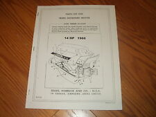 SEARS/ McCULLOCH OUTBOARD MOTOR 14 HP PARTS LIST  MANUAL~ 574-60690