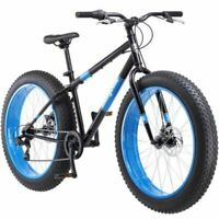 """FAT TIRE BIKE Mens 26"""" Mongoose Dolomite 7 Speed Mountain Bicycle Blue *NEW*"""