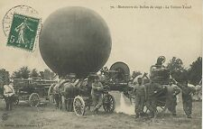 CARTE POSTALE / CAMP DE MAILLY / MANOEUVRE DU SIEGE LA VOITURE TREUIL  BALLON