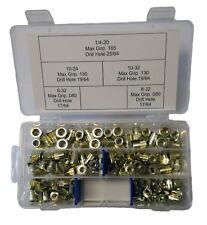 New listing Rivet Nut Kit ribbed steel 125 pcs (rivnuts riv nuts nutsert nutserts)
