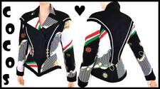Vtg 80s Nautical Print Side Zip Jewel Cleat Glamour Jacket
