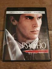 American Psycho 4K Ultra Hd + Blu Ray Uncut No Digital Hd
