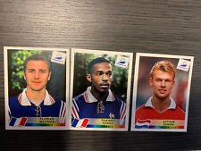 1998 World Cup Sticker Lot Thierry Henry Rookie And Two Other Players 🔥🔥📈📈