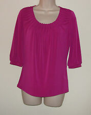 """Worthington Petite Stretch Pink Pull Over Blouse P/S Bust 34""""  Length 24"""" NWT"""