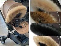 Pram fur Hood  trim fit Egg , Venicci  pram,pushchair  universal fit