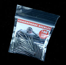 NEW BRITISH-MADE GRAMOPHONE NEEDLES, LOUD TONE, PACKS OF 100