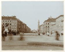 Allemagne, Munich, statue du Roi Ludwig, vue d'ensemble de la place  Vintag